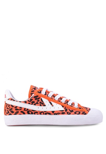 OBEY orange and multi WARRIOR X OBEY Leopard Ember Sneakers BE462SH4B8B56FGS_1