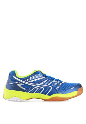 Spotec white and blue Sergio Badminton Shoes SP567SH24WTNID_1