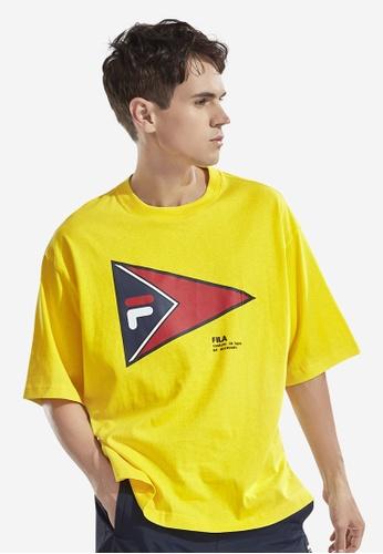FILA yellow Japan Collection FILA Logo Cotton T-shirt 64A15AA22FB918GS_1