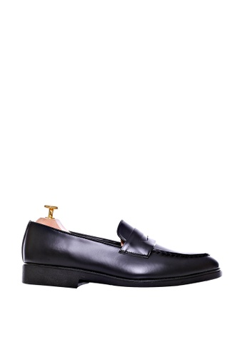 Zeve Shoes black Zeve Shoes Penny Loafer - Black Leather With Black EVA Sole 1E8A9SH5BD755AGS_1