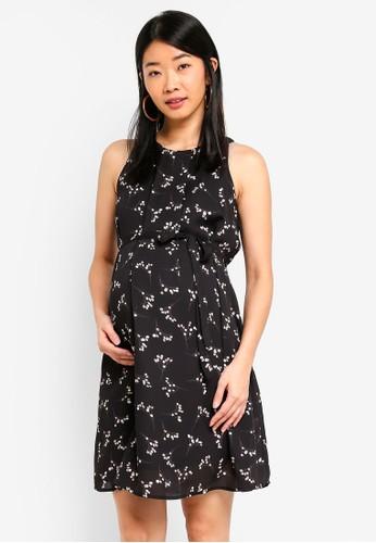 Spring Maternity black Maternity Clarabelle Dress 30C1FAAB8384C6GS_1