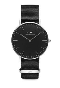 1440770c517 Daniel Wellington black and silver Classic Black Cornwall Watch 36mm  DA376AC64NCDMY 1