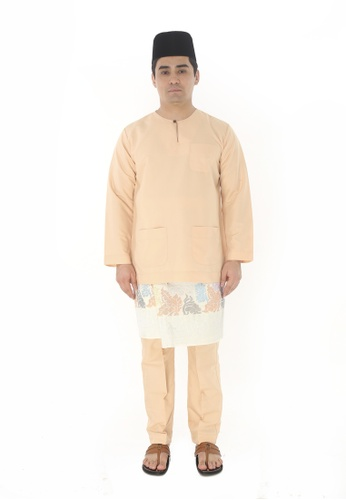 Amar Amran brown Baju Melayu Teluk Belanga F87C8AA063B135GS_1