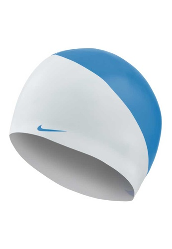 Nike white and blue Nike Swim JDI Cap F0B72AC76E307AGS_1