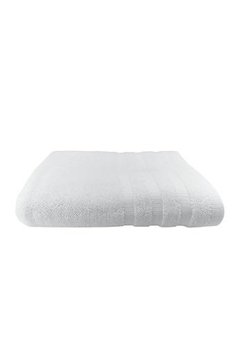 Martex white Bundle Of 2 Martex (USA) Mason 100% Combed Cotton Bath Towel 70x140cm 400gram. 74BDFHLDFEED12GS_1