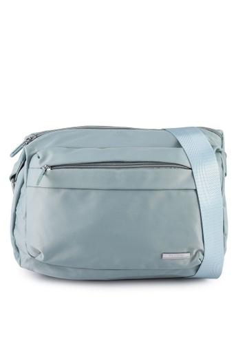 NUVEAU blue Lightweight Nylon Sling Bag ACB99ACDF6E6F9GS_1