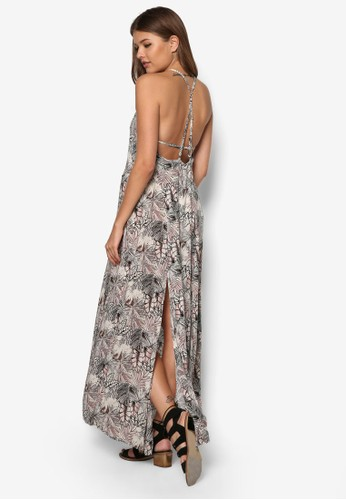 Tracy 繞脖印花連身長裙, 服esprit旗艦店飾, 夏日洋裝