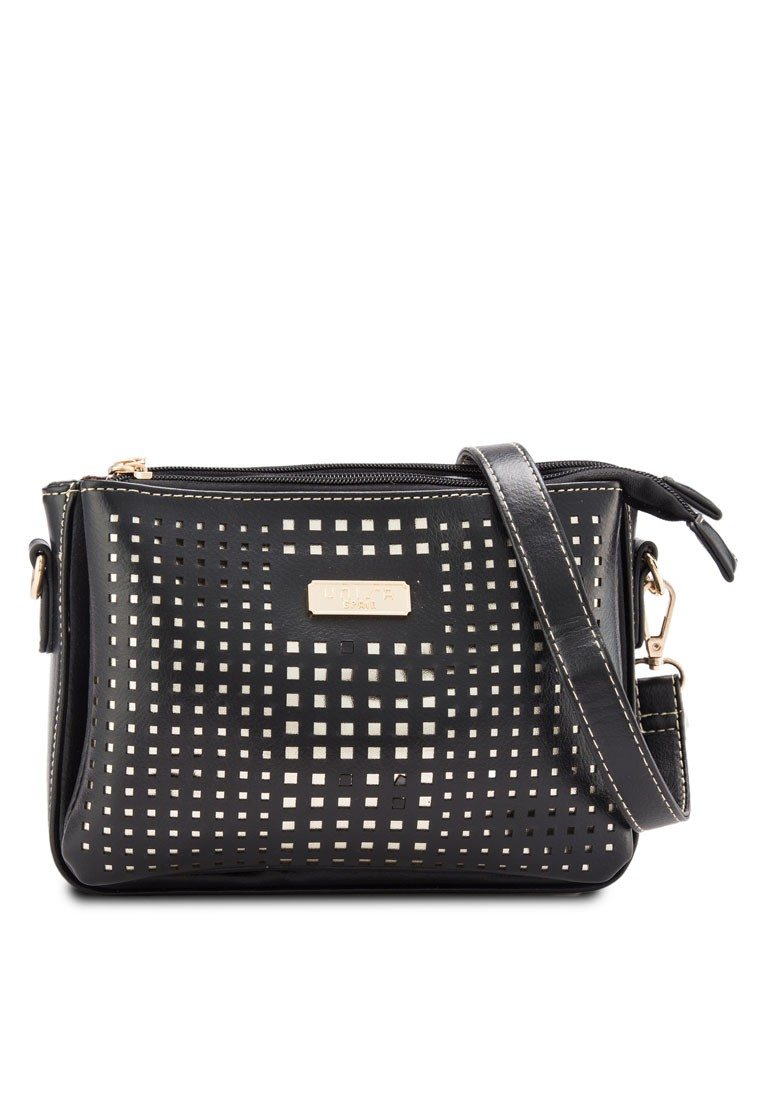 Perforated Facile Multi-Compartment Sling Bag