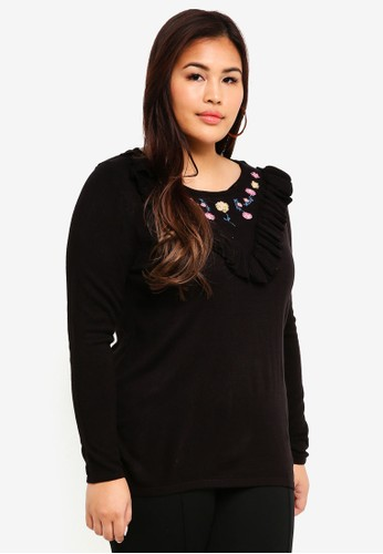Junarose black Plus Size Knitted Pullover 18196AAF6D3551GS_1