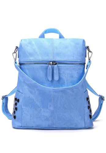 Vince blue European Designed Luxury Women Backpack ( Blue ) VI456AC37AXUMY_1