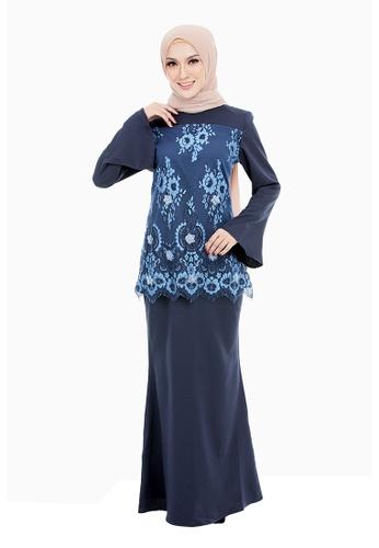 IRDINA KURUNG-XXXL to XXXXXL from Rasa Sayang in Blue
