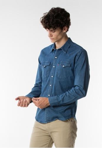 Levi's blue Levi's Classic Western Shirt Men (Blue) 8E666AAF3E0BD4GS_1