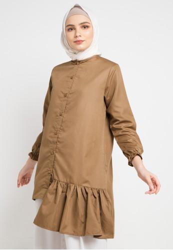 Radwah brown Aline Top 17440AAE10510FGS_1