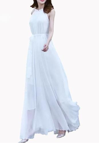 Twenty Eight Shoes white VANSA Chiffon Maxi Dress  VCW-D0183 29052AA1B28C66GS_1