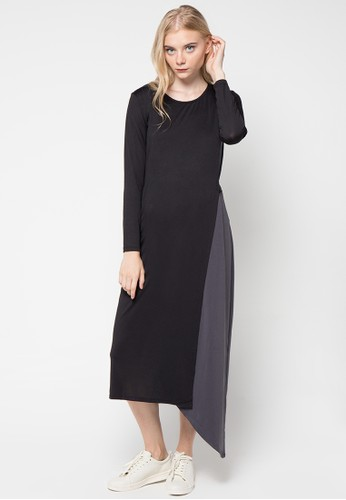 MONDAY TO SUNDAY black and grey Kohana Dress MO145AA88USDID_1