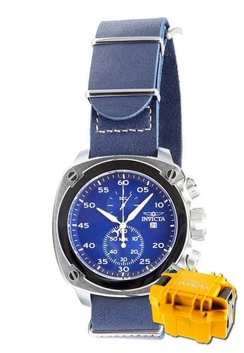 INVICTA silver Invicta Aviator Men Chronograph 54mm Quartz Pilot Sport Watch 19433 w/ Impact Case 3E713AC2BC269BGS_1