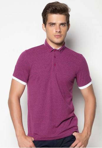 Polo Shirt with Hybrid Collar