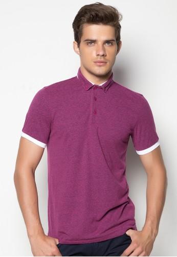 Polo Shirt with Hybrid Collar