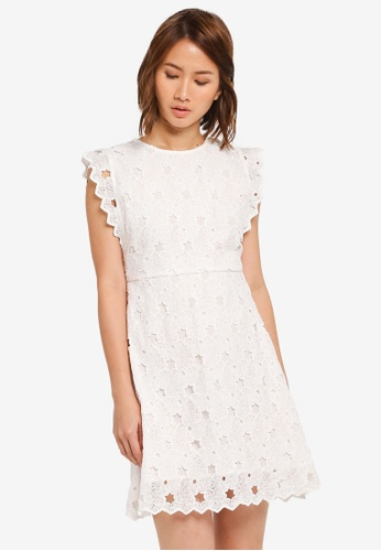 ZALORA white Fit & Flare Dress with Side Detail 550A3AA8413838GS_1