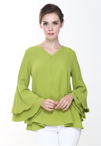 86fa3f19159306 Rina Nichie Basic green Rena Top in Apple Green RI220AA0RW6DMY 1