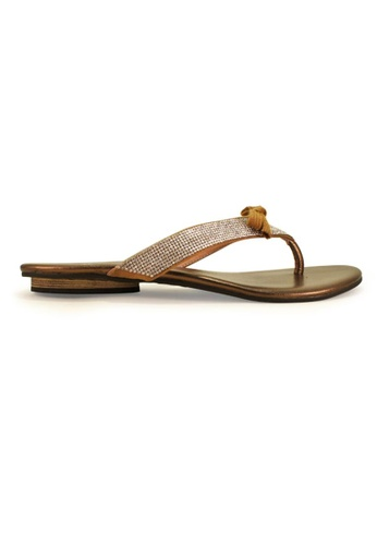 Gripz gold Smarty Leather Thong Sandals GR357SH78IOFSG_1