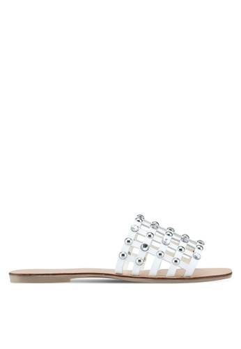 ALDO white Unterman Flat Sandals 7BA19SHF5F2959GS_1