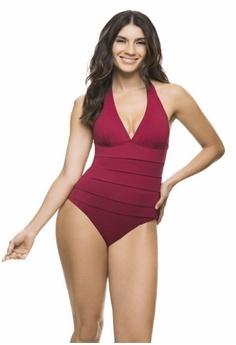 63f07c54dd5e Estivo red and purple Red Halter Tummy Control Swimsuit B602AUSDDD785EGS 1