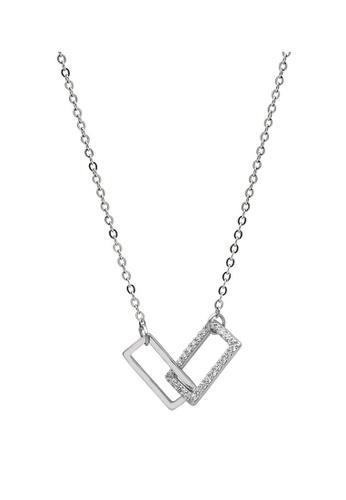 LYCKA 銀色 LDR9056 S925純銀 簡約方塊項鏈 0B7A7AC84D596AGS_1