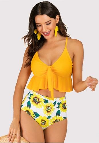 Twenty Eight Shoes yellow VANSA Ruffle Bikini Swimsuit VCW-Sw6176 29EC0USB178C45GS_1