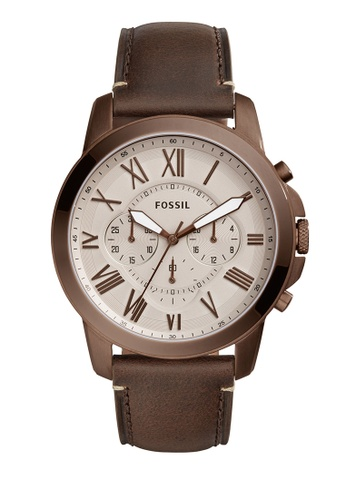 Fossil brown Grant Chronograph Watches FO359AC0K93JPH_1