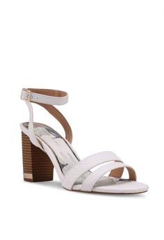Topshop Leather vamp Sandal Heels UK Size 7 -Size 40
