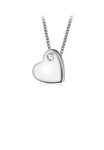 Glamorousky white 925 Sterling Silver Heart Pendant with Necklace 83037AC566A99CGS_1
