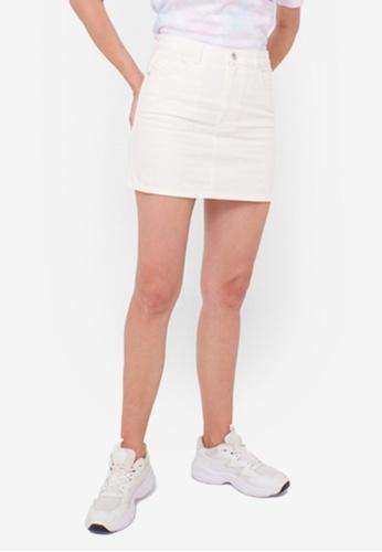LC Waikiki white Mini Denim Skirt CAAECAAA6C9101GS_1