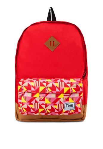 Avery 幾何外袋後背包,esprit 衣服 包, 飾品配件