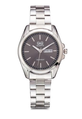 Q&Q A190-202Y 日期大框鍊錶,尖沙咀 esprit 錶類, 飾品配件