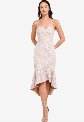 ZALORA OCCASION pink Bustier Lace Mermaid Dress 7576CAA8507E83GS_1