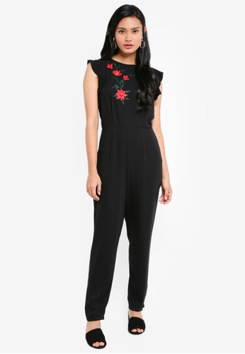 Dorothy Perkins black Black Embroidered Jumpsuit 904D7AA4F4ECEEGS_1