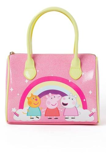 H&M pink Printed handbag 76015KC8C171AFGS_1