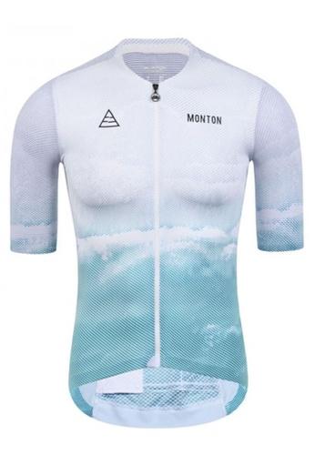 MONTON white Monton jersey men short sleeve beach D71B5AA57D62CDGS_1
