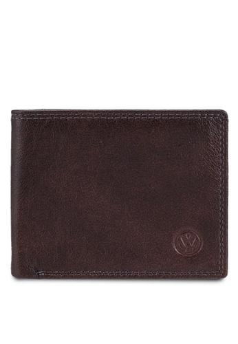 Volkswagen brown Embossed Bifold Wallet 9C1C6AC667278FGS_1