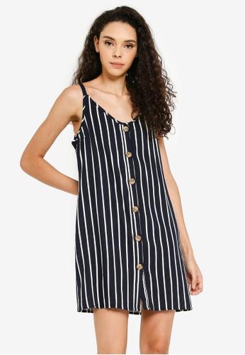 Cotton On navy Woven Margot Slip Dress A2858AA9114727GS_1