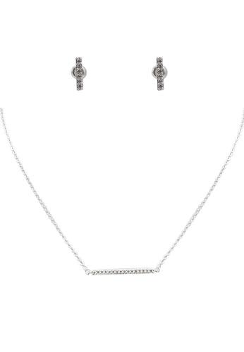 ALDO silver Azariaa Necklace and Earring Set D3235ACAA74A90GS_1
