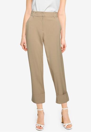 JACQUELINE DE YONG beige Wagner Culotte Pants B489BAABEACC9FGS_1