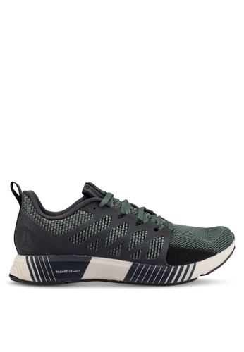 Reebok green Running Fusion Flexweave Cage Shoes 699BASHA6FE8BAGS_1