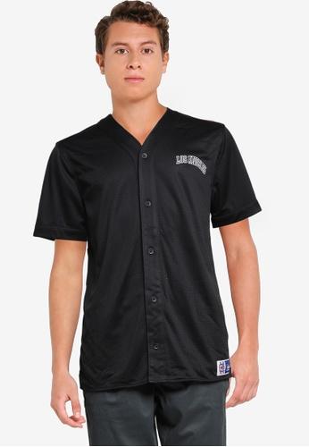 Hollister 黑色 Trend Drop 棒球襯衫 65076AA384BCAAGS_1