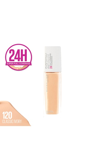 Maybelline beige Super Stay 24H Full Coverage Foundation - 120 Classic Ivory 477EDBE99255FBGS_1