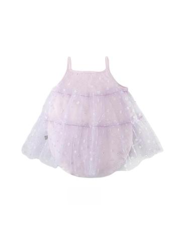 Little Kooma purple Baby Girl Floral Voile Cover Camisole Bodysuit Dress Purple 1BE9EKA581C2BAGS_1