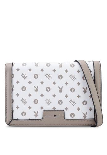 PLAYBOY BUNNY white Sling Bag B031CACBBF330AGS_1