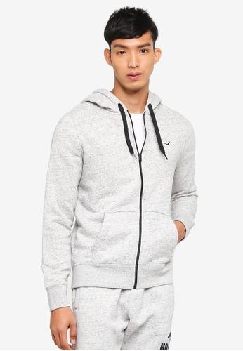 Hollister 灰色 Brand Graphic Zip Hoodie 5FEC5AA455CB01GS_1