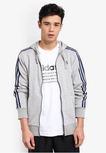 adidas grey adidas ess 3s fz ft AD372AA48BPNMY_1